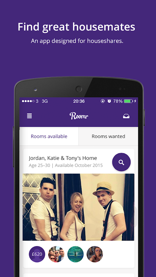 Roomr - London Houseshares- screenshot