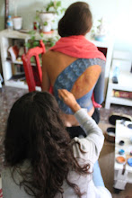 Photo: making off body painting pavo real