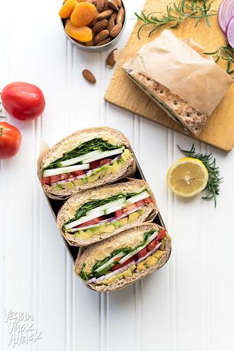 Rosemary Chickpea Salad Sandwich