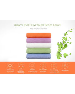 ZSH Face & Bath Towels (White, Blue)