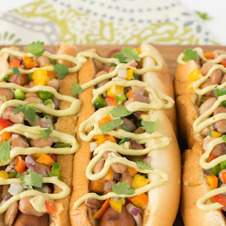 Mexican Style Hot Dogs.
