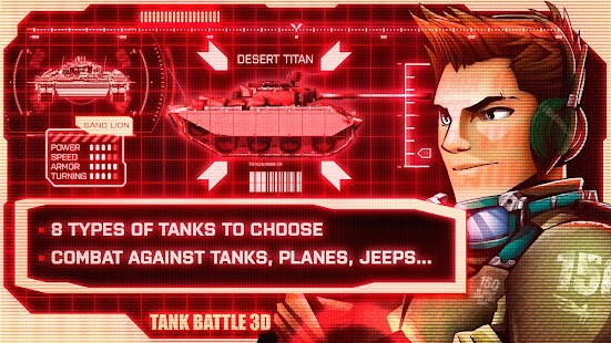 Tank Battle 3D: Desert Titans- screenshot thumbnail
