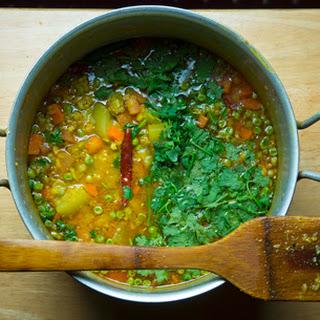 Shobji Dal (Lentils with Vegetables).