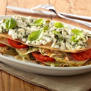 Lasagne Met Koolrabi En Tomaat