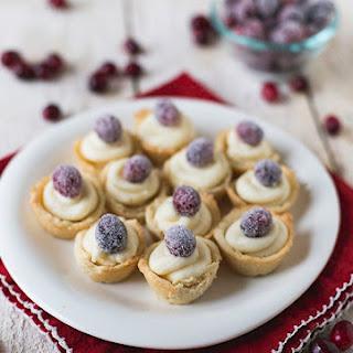 Sugared Cranberry Mini Tarts