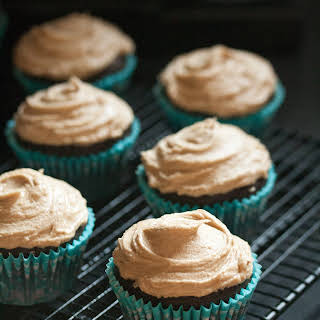Mocha Cupcakes with Cappuccino Frosting.