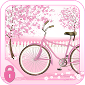 Sakura Pink  Bicycle Locker Theme