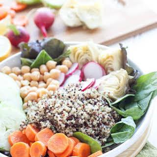 Cleansing Tri-Color Quinoa Salad.