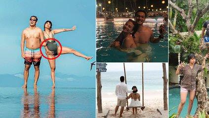 9 Potret Vanessa Angel Liburan di Bali, Perut Buncitnya Jadi Sorotan Netizen - Diduga Hamil Anak Kedua - KapanLagi.com