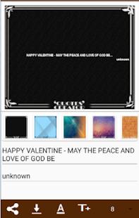 Valentinesday sms Creator - náhled