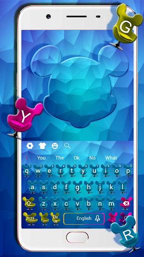 Blue Cartoon Mouse Keyboard 10001004 screenshots 1
