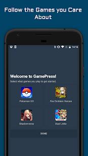 GamePress - náhled