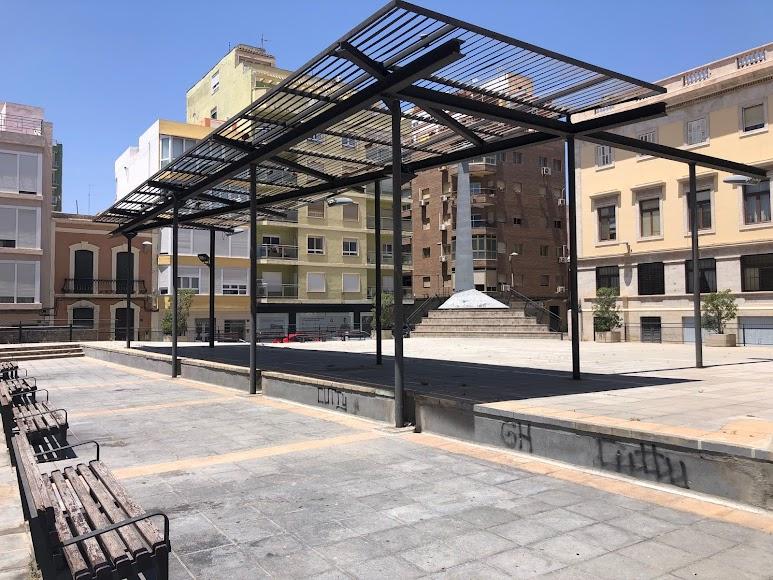 La Plaza López Falcón, antes de la remodelación.