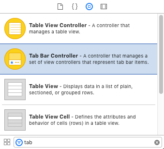Drag a Tab Bar Controller from the Object Library