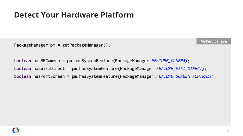 Photo: Use the Package Manager to determine what hardware is available at runtime, and modify your UI accordingly.