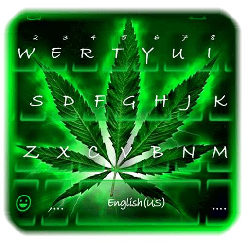 Neon Rasta Weed Keyboard Theme