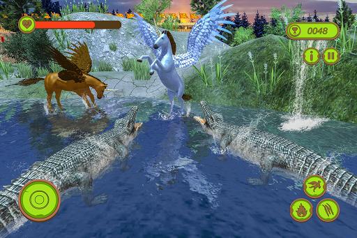 Flying Unicorn Horse Family Jungle Survival 4.0 screenshots 8
