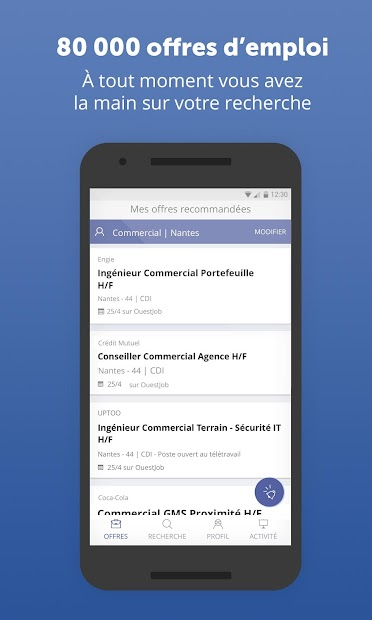 RegionsJob Emploi Android App Screenshot