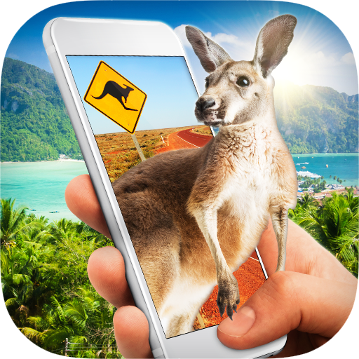 Kangaroo in Phone Prank Icon