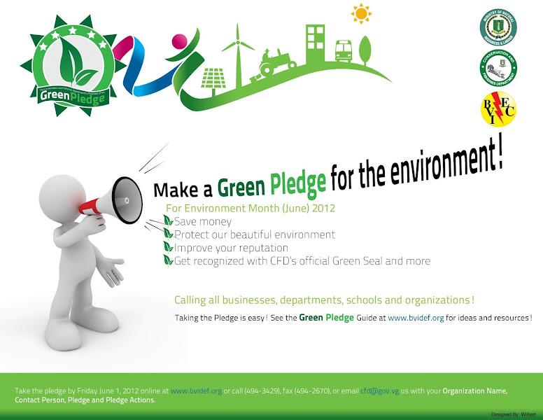 Photo: Make a Green Pledge Today!