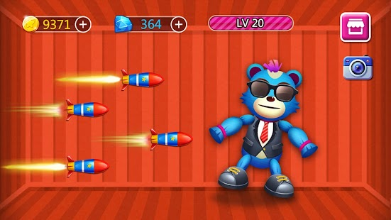 Kick The Bear - The Funny Kick Game Screenshot