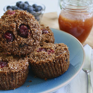 Flourless Almond Butter and Oat Protein Muffins