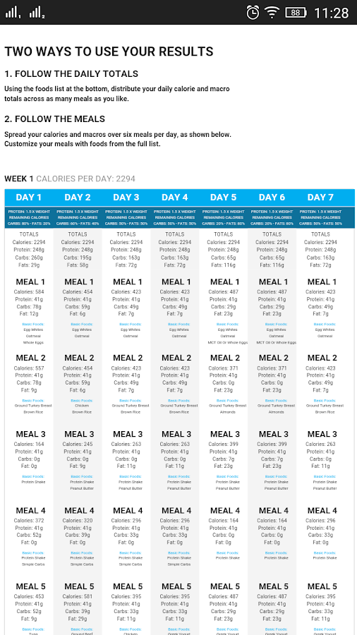 30 Days Diet Plan Builder- screenshot