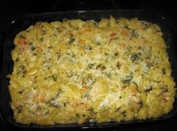 Spicy Basil Shrimp Mac and Cheese
