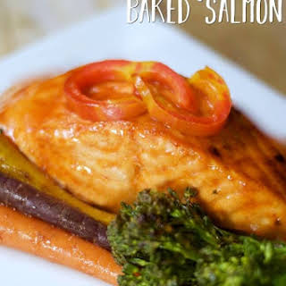 Perfect Baked Salmon in Foil with Honey Sriracha Glaze.