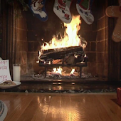 Christmas Fireplace LIVE WALL