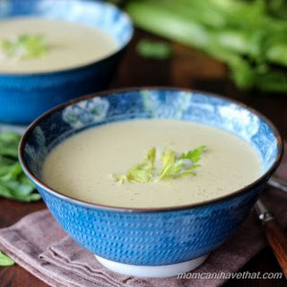 Creamy Celery and Fennel Soup with Rotisserie Chicken