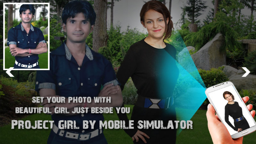 android Girl Projector Simulator + Cam Screenshot 1