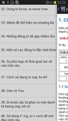 Ngữ pháp tiếng anh - screenshot