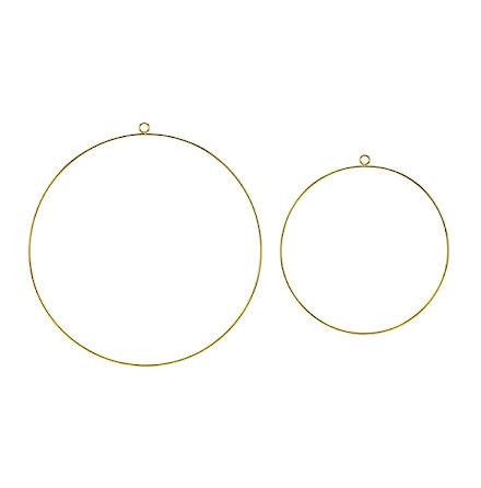 Dekorationsringar i metall - guld