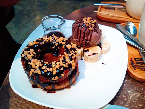 好滴咖啡 甜甜圈外型的可頌=可拿滋 吃主打外別錯過麵食 台北 市政府/國父紀念館