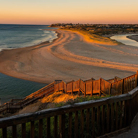 Port Noarlunga South Australia by Linda Brown - Landscapes Beaches