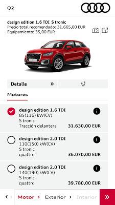 Audi Configurador - screenshot