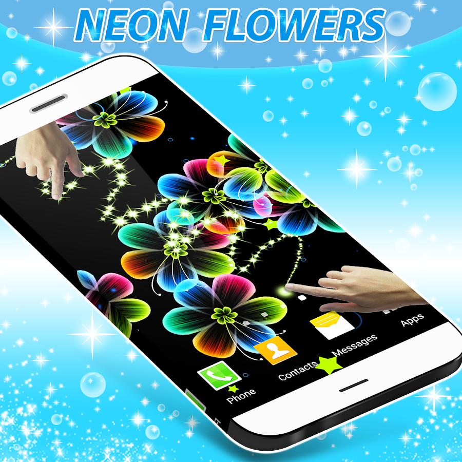 Neon Flowers Live Wallpaper- screenshot