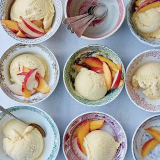 Peach-Buttermilk Ice Cream