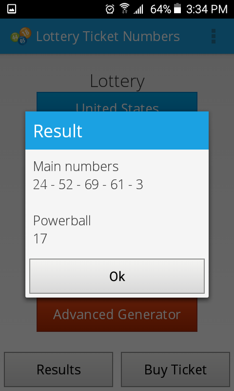 Lottery Ticket Numbers- screenshot