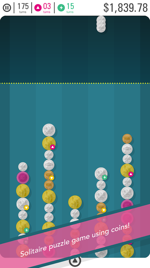 Coin Line - Solitaire Puzzle- screenshot
