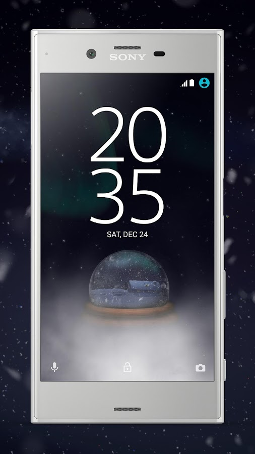 XPERIA™ Magical Winter Theme- screenshot