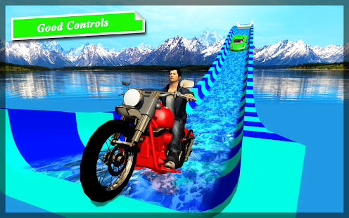 Car Racing in Water Slide - Race Games - náhled