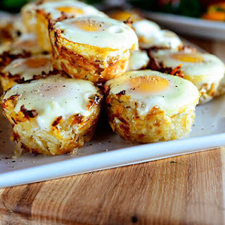 Eggs in Hash Brown Nests Recipe