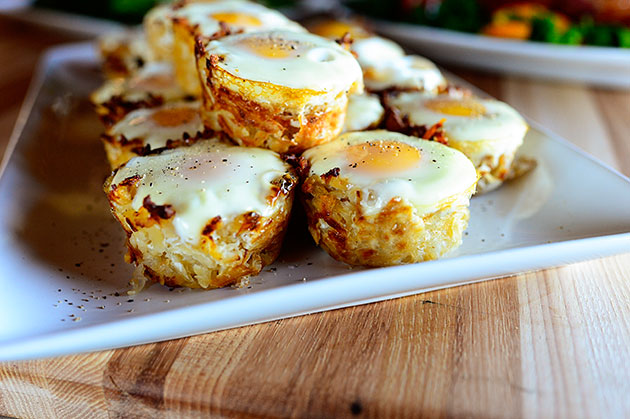 Eggs in Hash Brown Nests Recipe