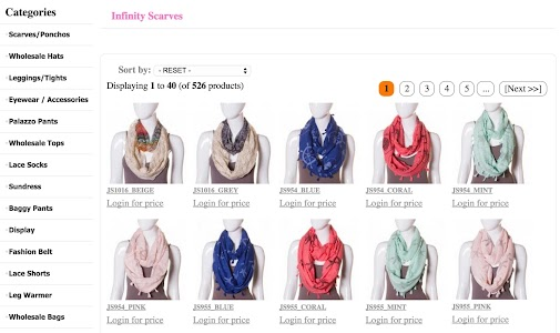 Wholesale Scarves For Women screenshot 3