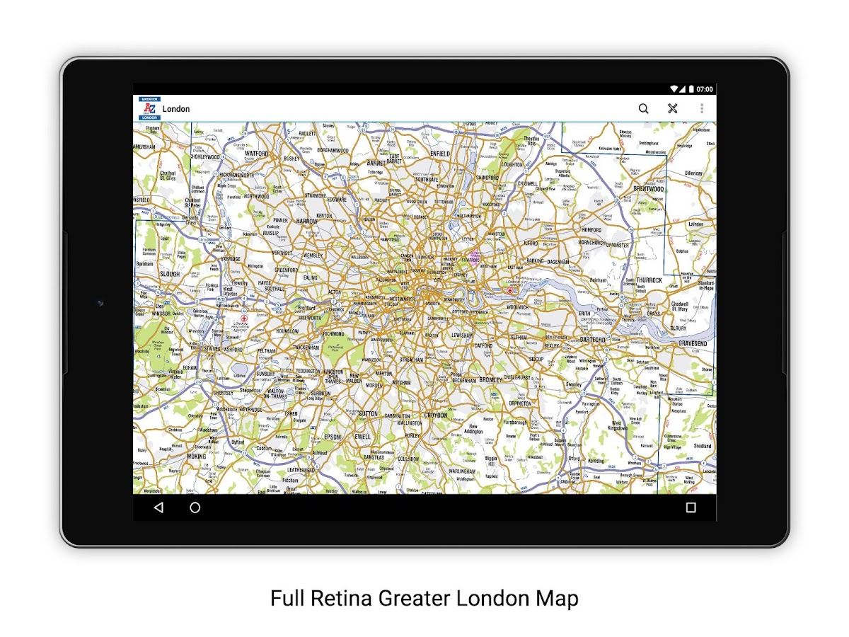 Greater London A-Z 2016- screenshot