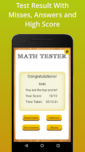 Math Tester Screenshot