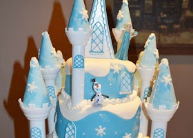 Frozen Disney christening cake