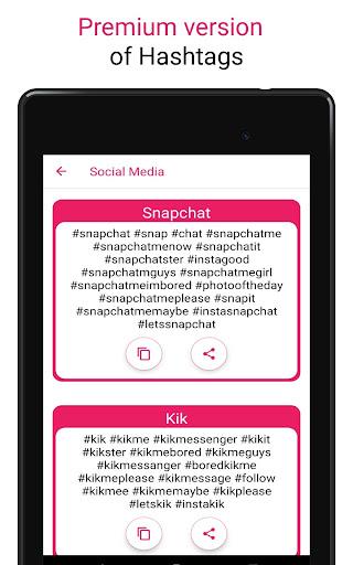 Premium Hashtags: Increase Likes & Followers ?? screenshot 18